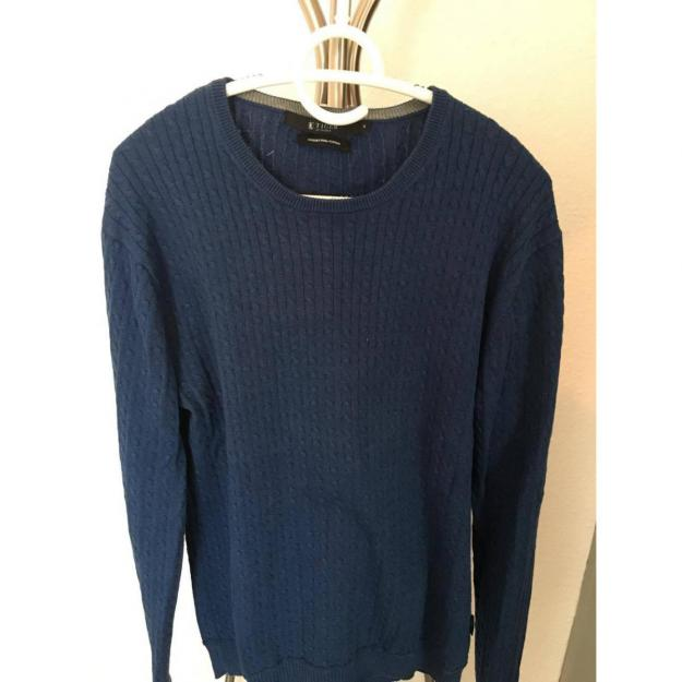 Tiger of Sweden cable knit in blue