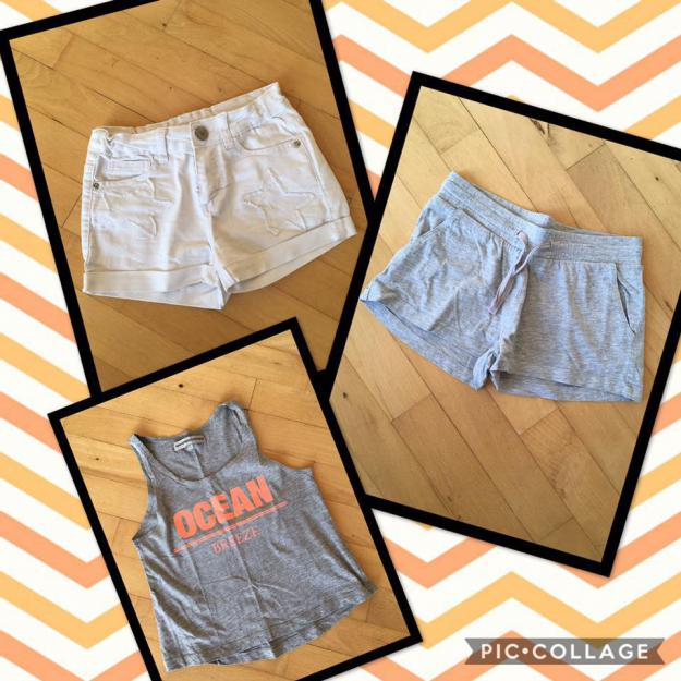 Shorts og top i str. 9-10 år
