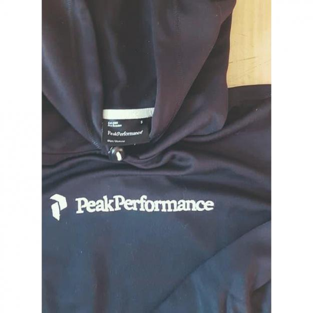Hooded sweater fra Peak Performance, med lomme, sort, str. S