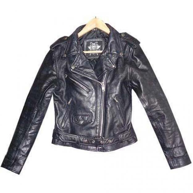 HARD LEATHER STUFF - BIKER JAKKE STR S