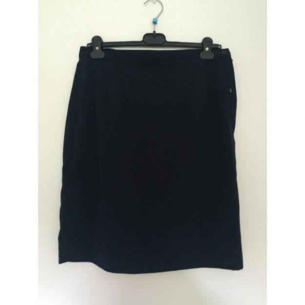 Marine blå pencil skirt