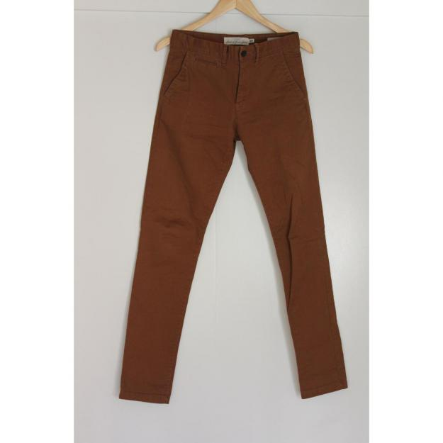Skinny fit chinos brun
