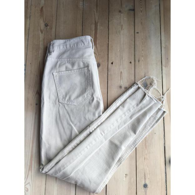 beige straight jeans