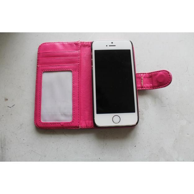 Pink Flip Cover til iPhone 5/5S/SE