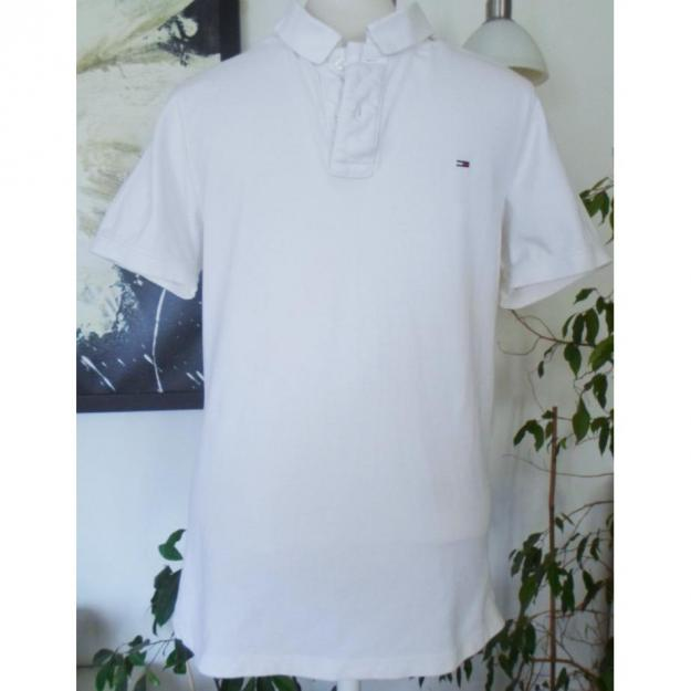 Hvid Tommy Hilfiger polo t-shirt