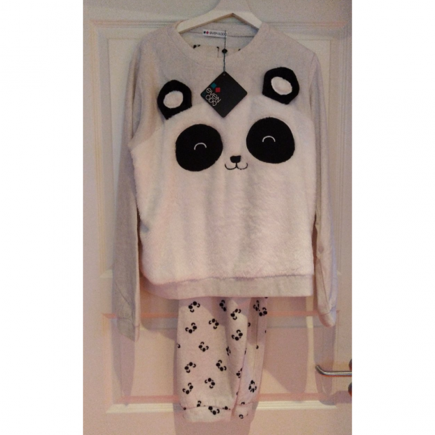 Ny panda fleece sæt Str. Xl